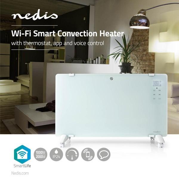 Alexa WLAN Smart Konvektionsheizgerät Thermostat Glas-Frontplatte | 2000 W