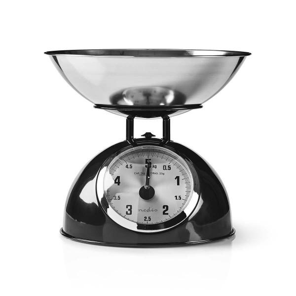 Design Retro Vintage Küchenwaage 5kg Metall schwarz