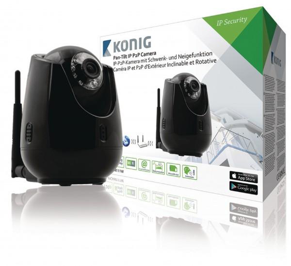 HD Bewegliche IP-Kamera Innenbereich 720P schwarz