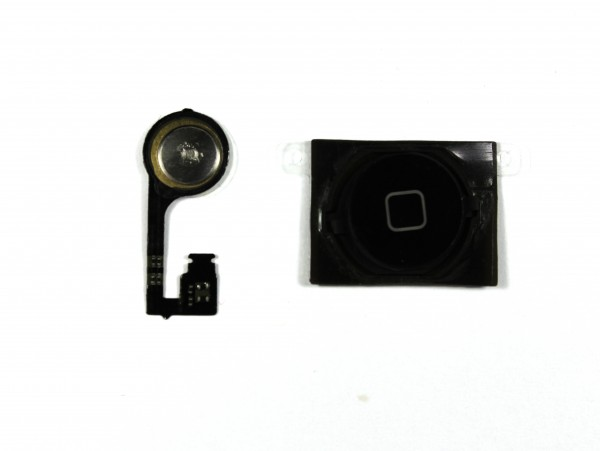 iPhone 4s Homebutton, Flexkabel, Dichtung, Plättchen Set schwarz
