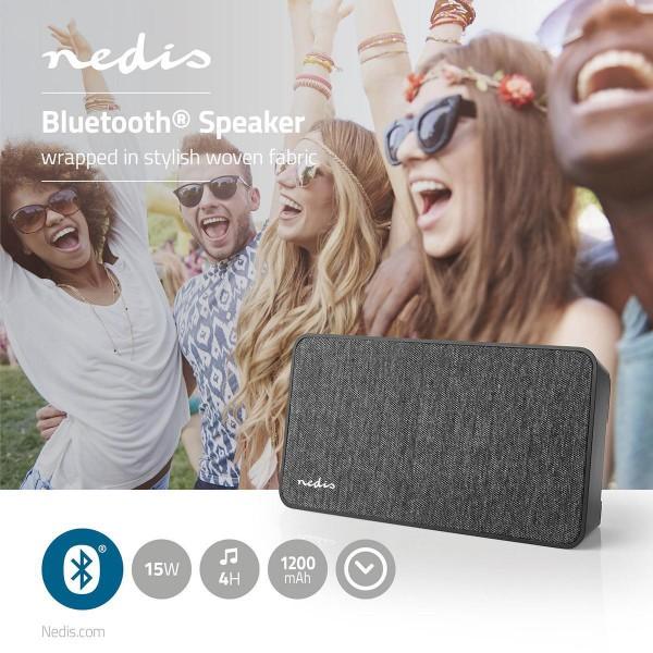 Bluetooth®-Lautsprecher Stoff Design 15 W inkl. Uhr
