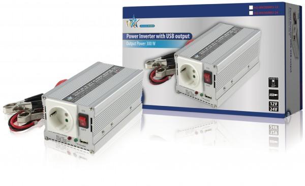 Wechselrichter 24 VDC - AC 230 V 300 W