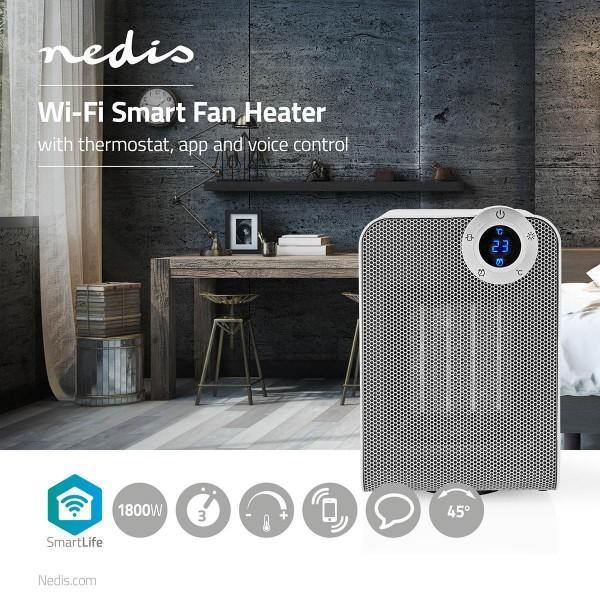 Alexa WLAN Smart Heizlüfter Kompakt Thermostat Oszillation 1800 W