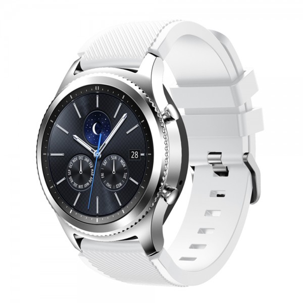 Premium Silikon Armband 22mm kompatibel mit Samsung S2,S3 Classic, Fontier