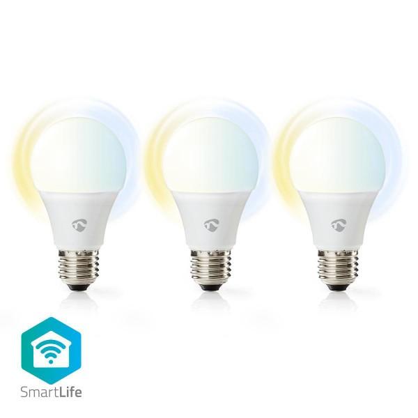 WLAN Smart LED-Lampen Warmweiß bis kaltweiß E27 3er-Pack