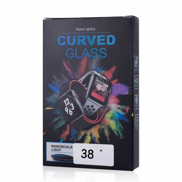 Apple Watch Panzerglas curved 3D Full Cover 9H mit UV-Kleber
