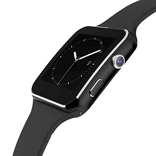 Smartwatch Bluetooth Uhr Curved Display iOS Android Samsung iPhone