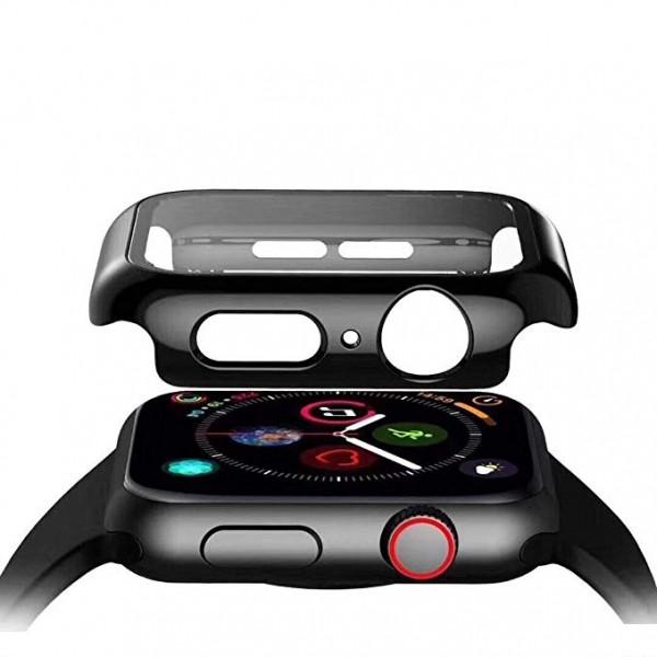 Schutzhülle mit Displayglas für Apple Watch 1 2 3 4 Ultraslim Soft Touch