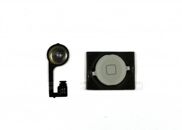 iPhone 4s Homebutton, Flexkabel, Dichtung, Plättchen Set weiß