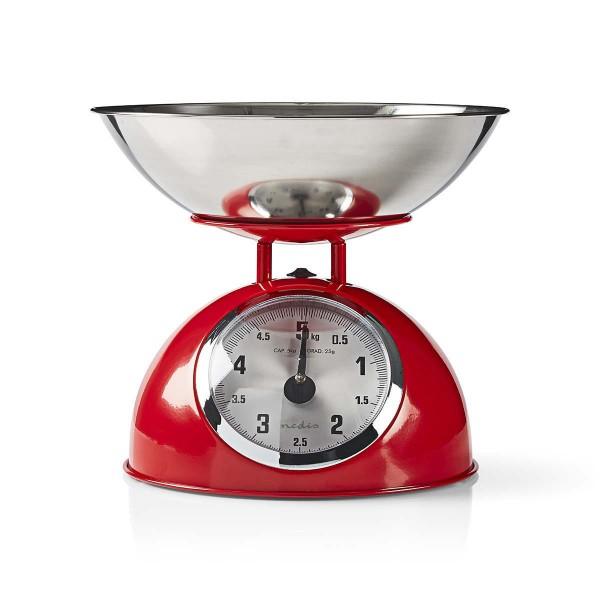 Design Retro Vintage Küchenwaage 5kg Metall rot