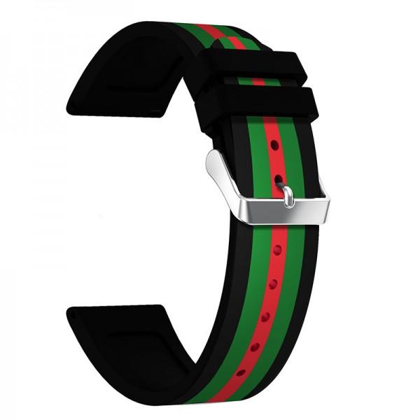 Samsung Watch 46 Gear S3 Frontier Classic Silikon Armband gestreift
